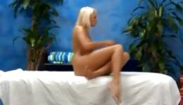 Watch on amazing blonde sexy bitch posing before the camera